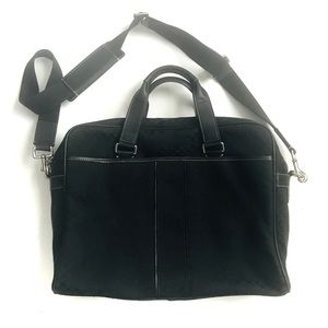 Coach Signature Black Commuter Bag